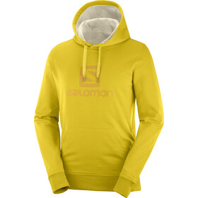 Salomon Logo Veste à capuche Homme, lemon curry